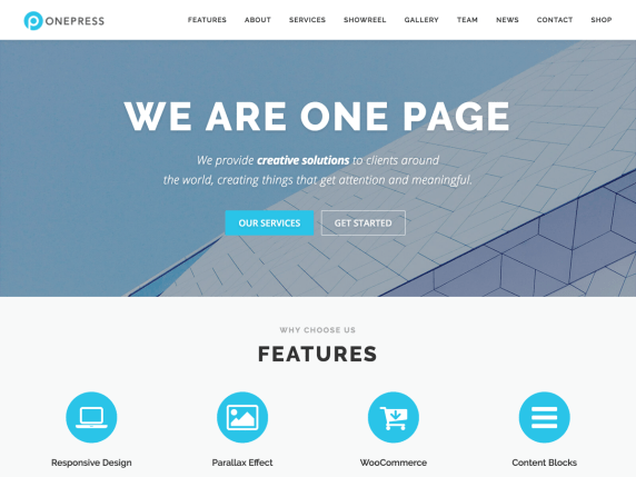 One press wordpress theme