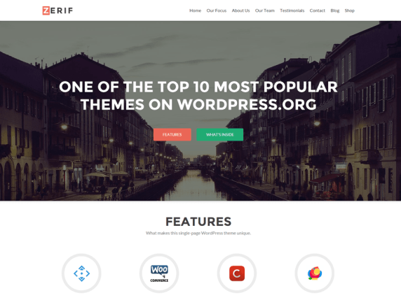 Zerif Lite lite wordpress theme