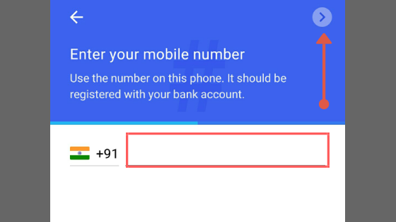 Register on google pay