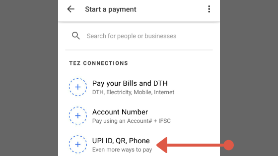 Google pay upi
