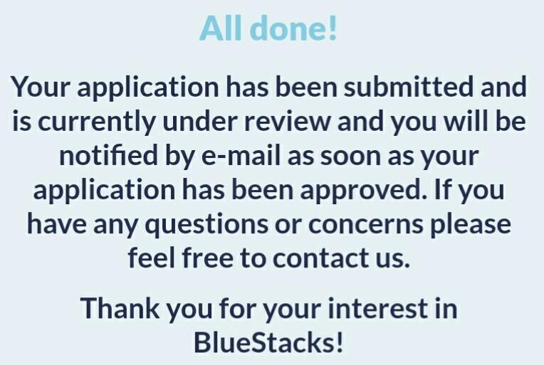 All Done Bluestacks