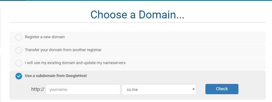 Gooiehost free domain