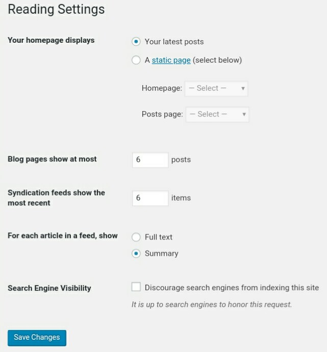 Reading WordPress Settings