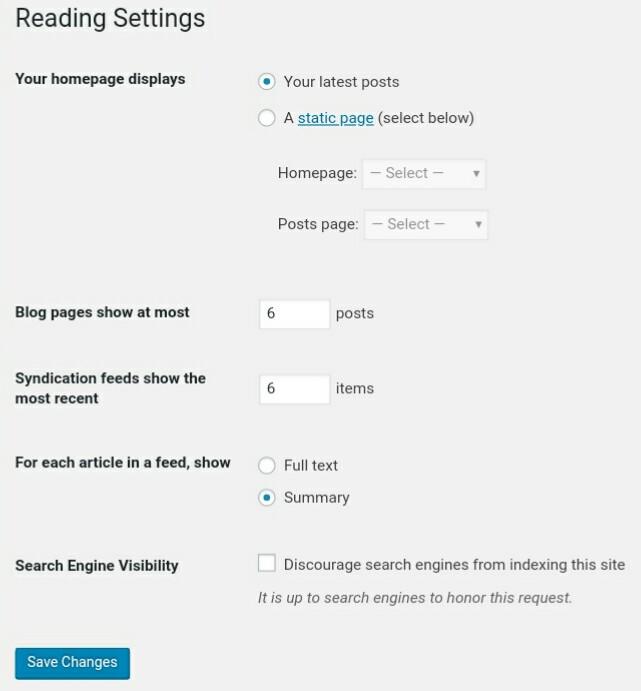 Reading WordPress Settings