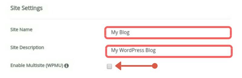 Wordpress site setting