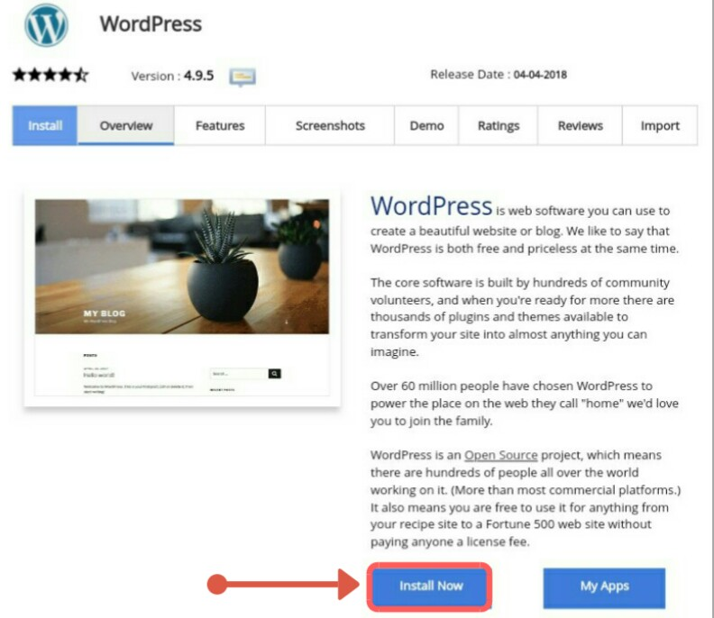 Create website using wordpress
