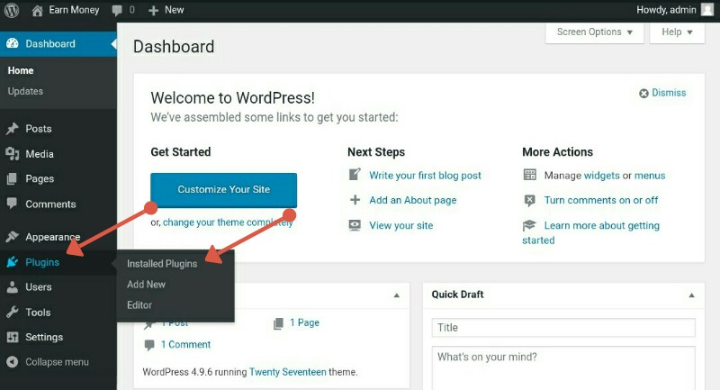 Wordpress plugin setting