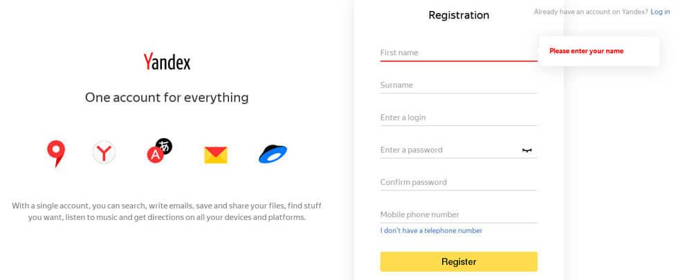 Russian Search Engine Yandex से Blog को कैसे connect करे