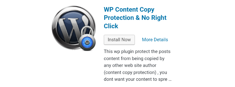 Wp copy protection