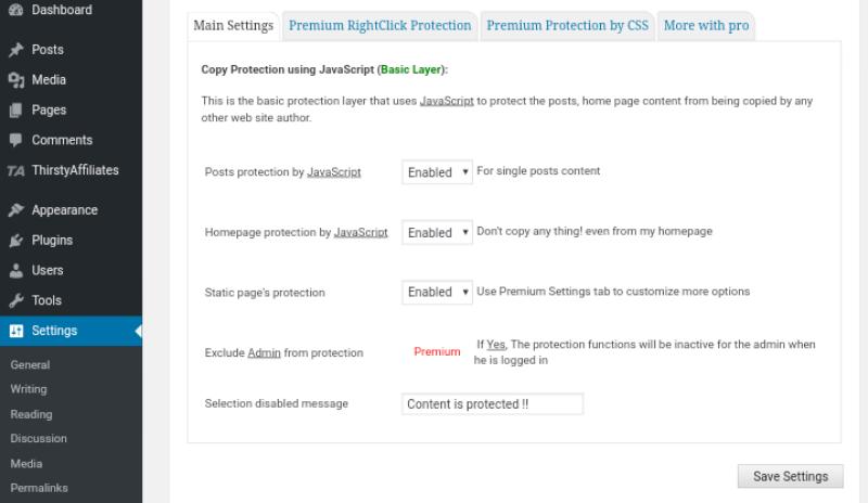 WordPress Website me Content ko copy hone se roke