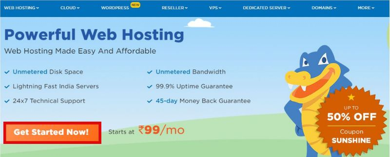 hostgator home