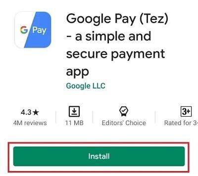 Google Pay App Install