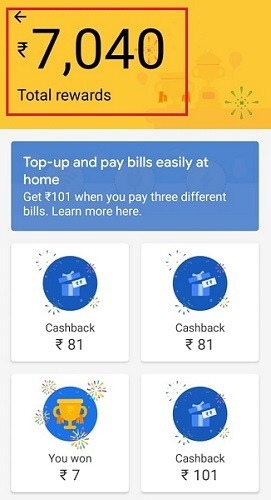 Google pay earning proof